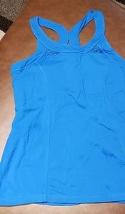 Vibrant blue work out tank